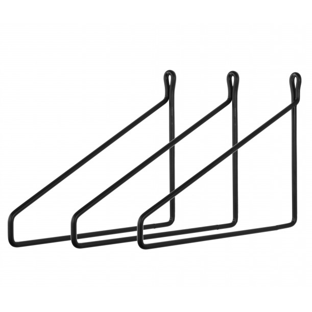 3 Vintage Brakets lacquered steel for Shelf Archiv Collection