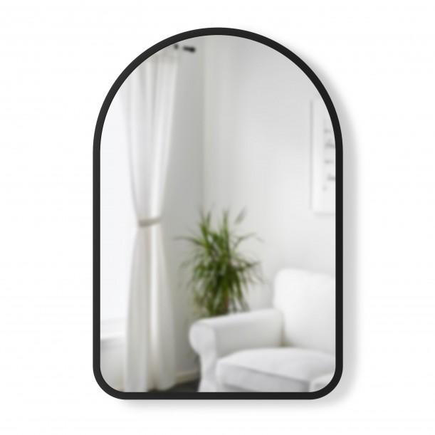 Mirror HUB Arched Black Rubber Frame 61 x 91 cm Umbra