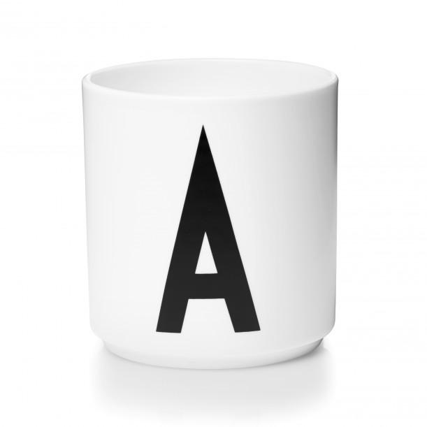 Cup White Alphabet A-Z Design Letters