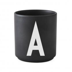 Cup Black Alphabet A-Z Design Letters