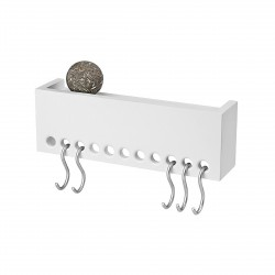 So Hooked Wall Rack Mini White Nomess Copenhagen