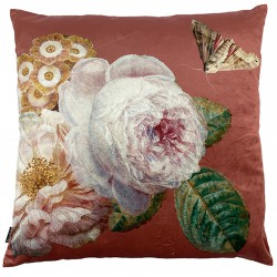 Coussin Velours Coral Rose 50 x 50 cm