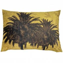 Velvet Cushion Mustard Palm 50 x 70 cm