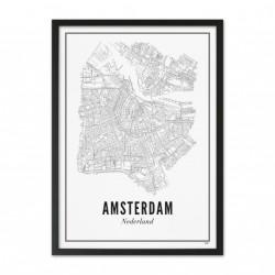 Affiche Ville Amsterdam