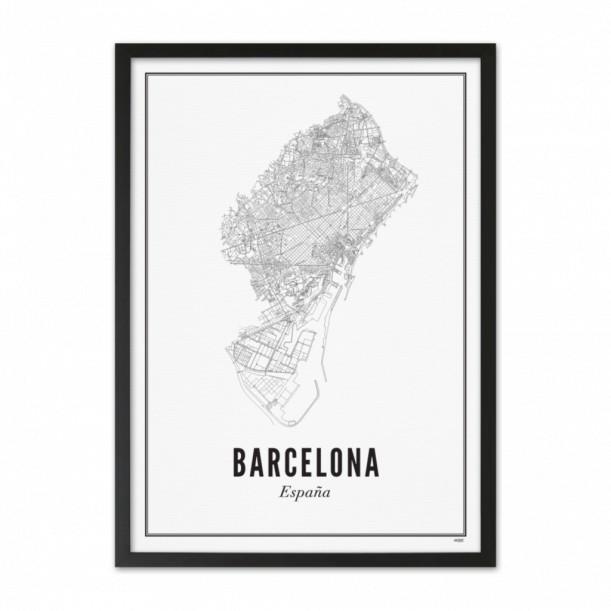 Print Barcelona City