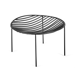 Basket NANA Black 25 x 25 x H 12 cm Serax