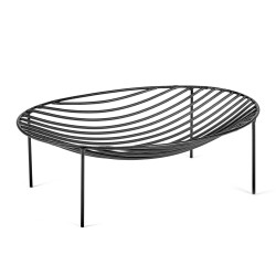 Basket NANA Black 35 x 25 x H 11 cm Serax