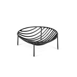 Basket NANA Black 20 x 20 x H 6 cm Serax