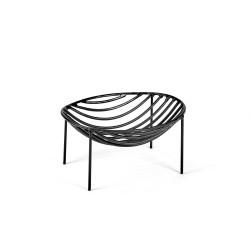 Basket NANA Black 21 x 16 x H 8 cm Serax