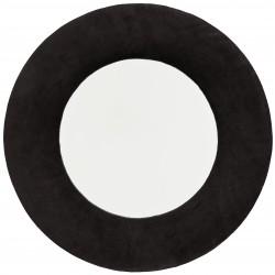 Mirror Velvet Frame Black 50 cm