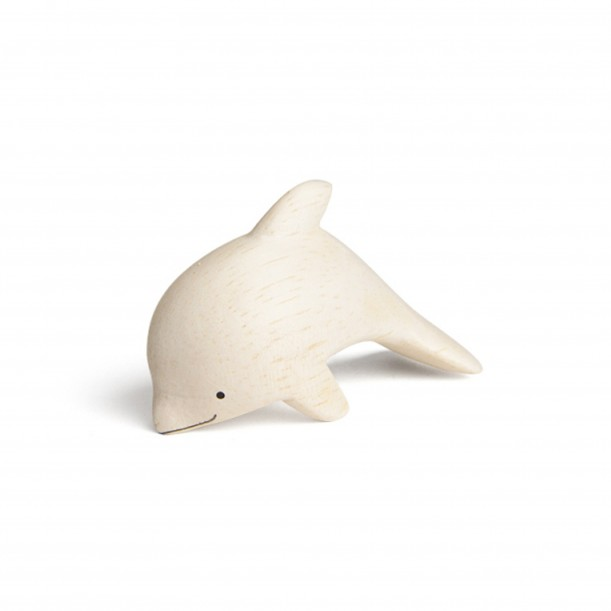 Wooden Dolphin Figurine