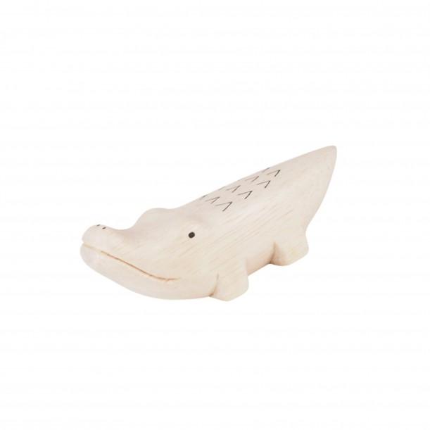 Wooden Crocodile Figurine