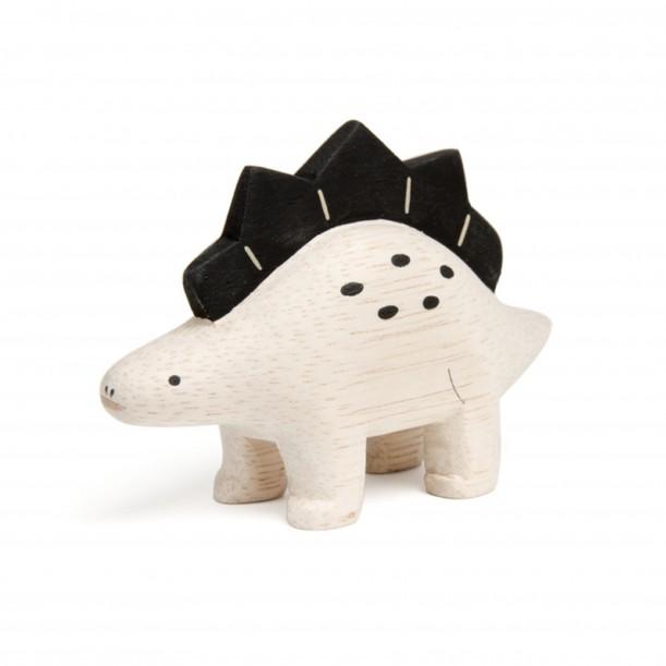 Wooden Dinosaur Stegosaurus Figurine