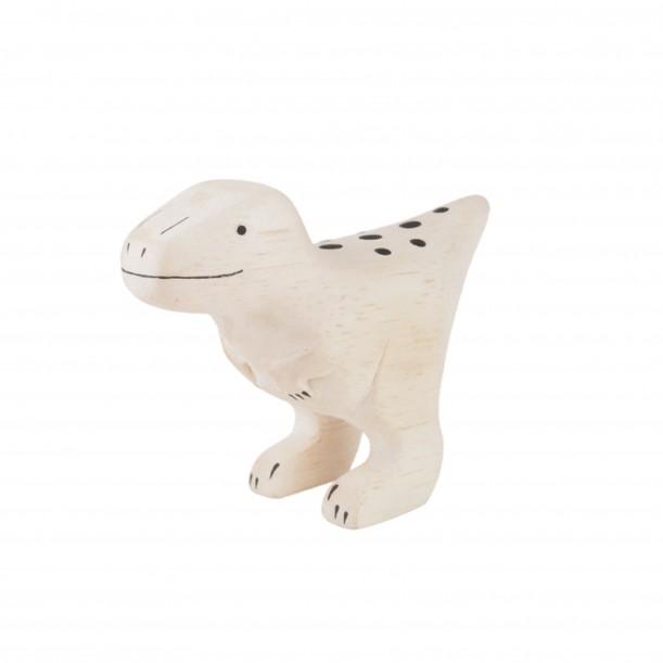 Wooden Dinosaur Velociraptor Figurine