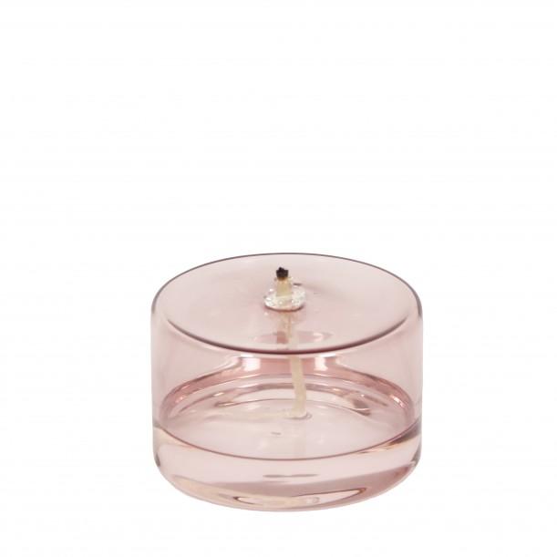 Oil lamp Olie Small Glass Rose H 6,5 x Diam 10 cm Eno