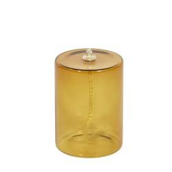 Lampe à huile Olie en Verre Ambre Medium H 10 x Diam 7,5 cm Eno