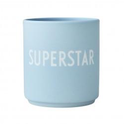 Mug Bleu en Porcelaine Superstar