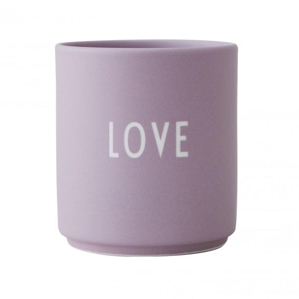 Mug Violet en Porcelaine Love