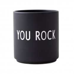 Porcelain Black Mug You Rock