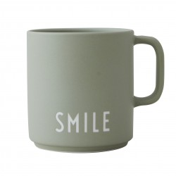 Porcelain Green Mug Smile