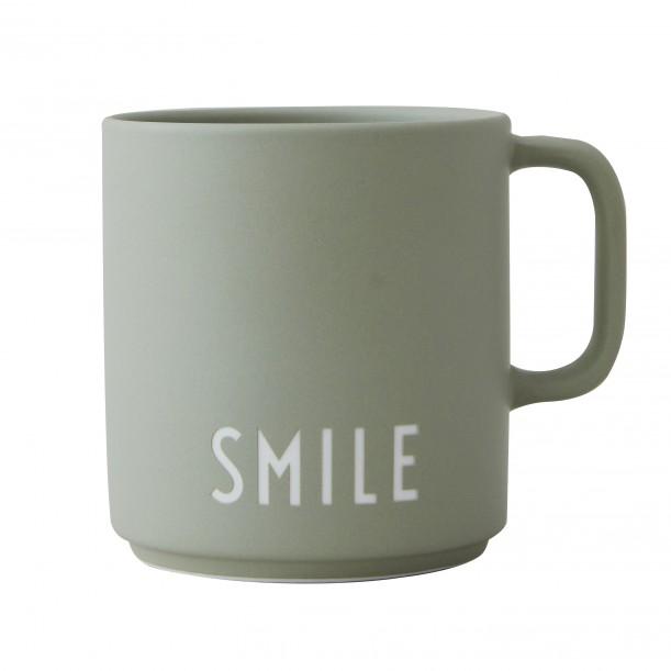 Mug Vert en Porcelaine Smile
