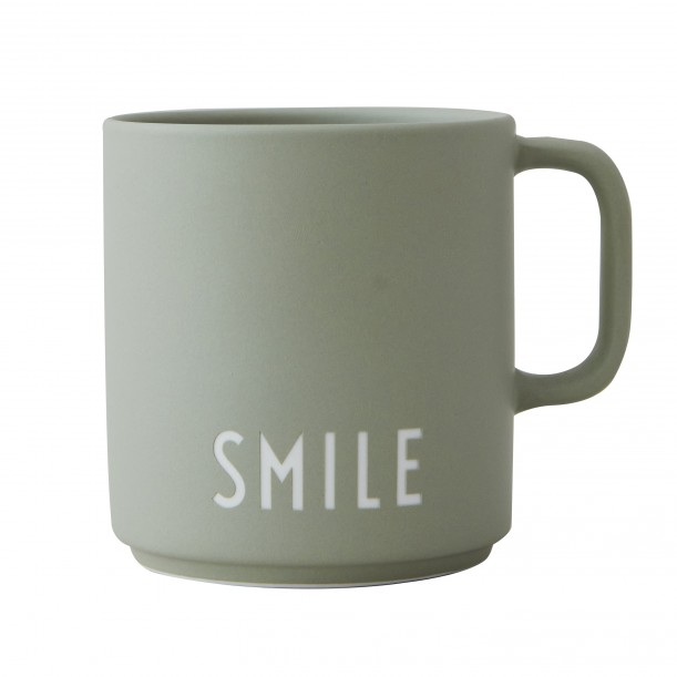 Porcelain Green Mug Smile