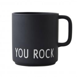 Mug Noir en Porcelaine You Rock