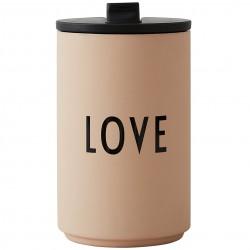 Thermos Cup Beige Love 0,35 Liter