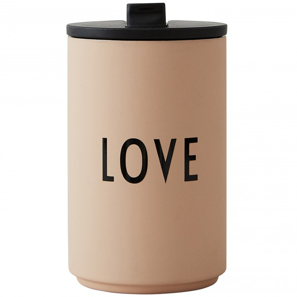 Cup Thermos Beige Love 0,35 Litre