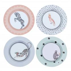 Set of 4 Melamine Plates 21cm