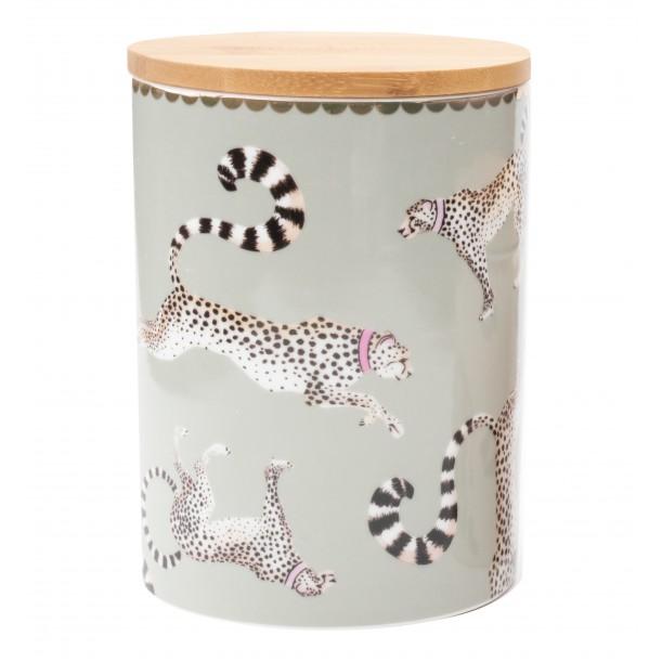 Cheetah Storage Jar 14 cm