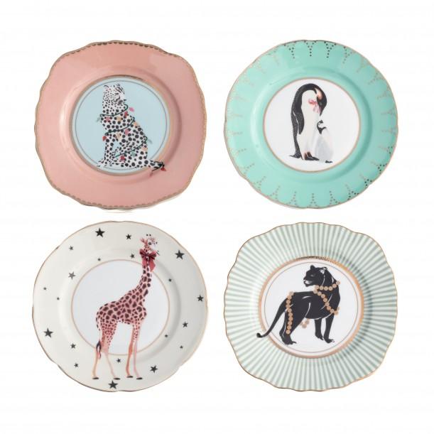 Set 4 Plates 16cm