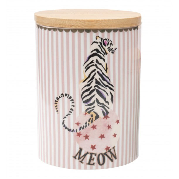 Tiger Storage Jar 14 cm