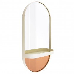 Wall-mounted Mirror with Shelf