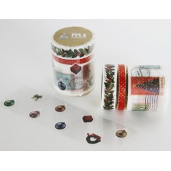 Set de 3 Masking Tape Deco Noël