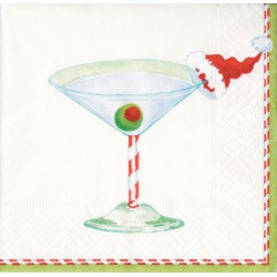 Serviettes Cocktail en Papier Christmas Cocktail