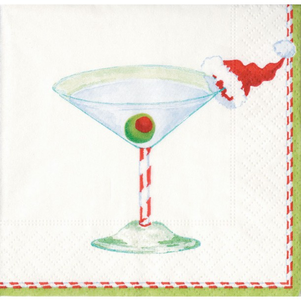 Serviettes Cocktail en Papier Christmas Cocktail