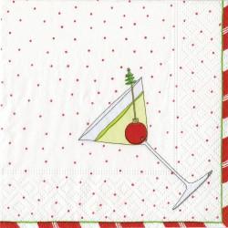 Cocktail Paper Napkins Christmas Spririt