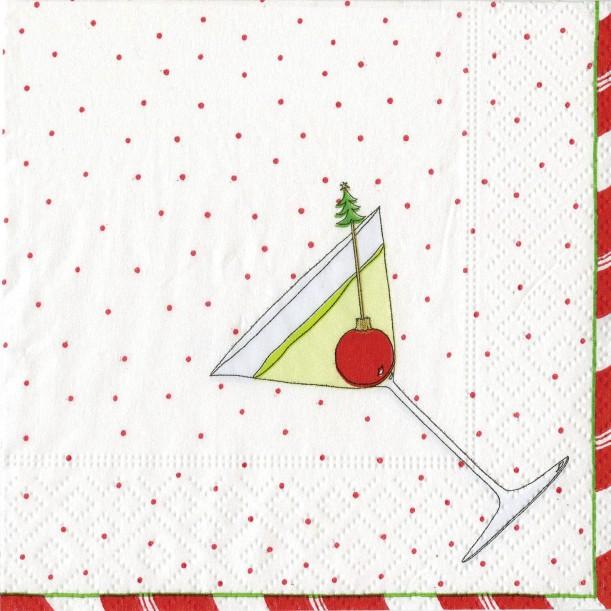 Serviette Cocktail en Papier Esprit de Noël