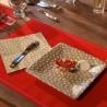 Petite Assiette en Carton Platine à Pois