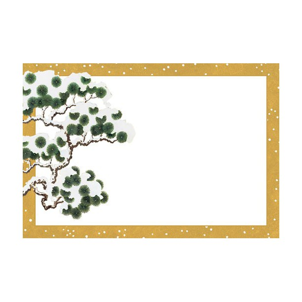 10 Marque Places Gold Snowy Pine