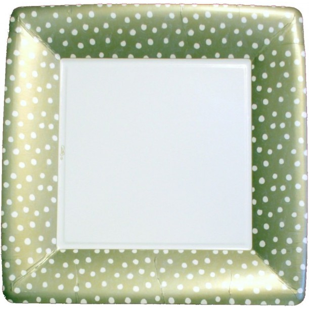 Cardboard Plate Platinum Dots