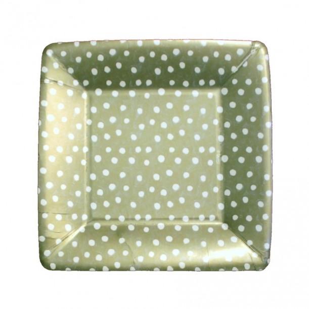 Small Cardboard Plate Platinum Dots