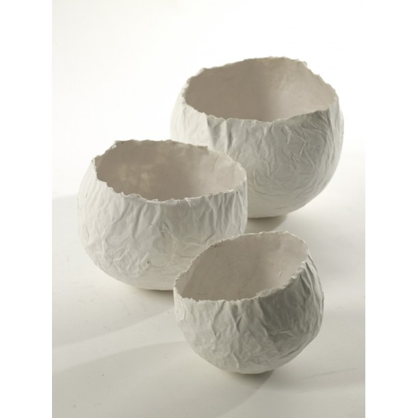 Vase boule papier set de 3 tailles