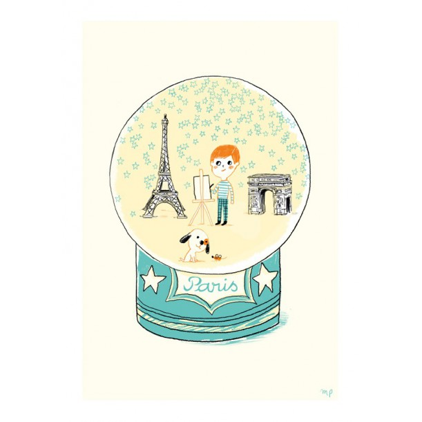 Print Paris Blue Stars