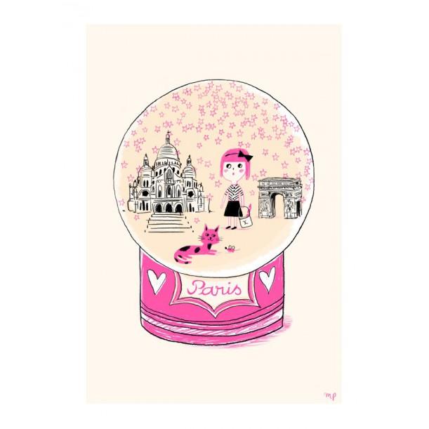 Print Paris Pink Stars