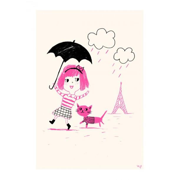 Print Paris Pink Rain