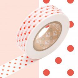 Masking Tape Deco Pois Rouge