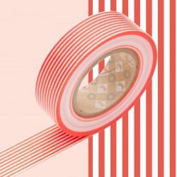 Masking Tape Deco Rayures Rouge