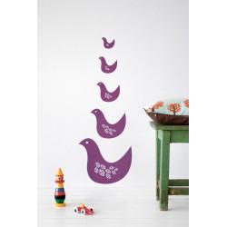 Wallsticker Birdie Violet